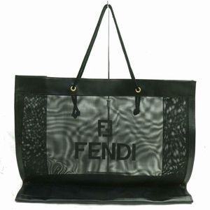 Fendi Extra Large See Through Mesh FF Logo Shopper